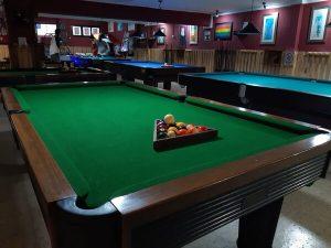 Sete mesas de snooker para aluguer